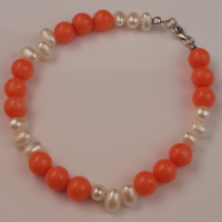 Pearl and Coral Bracelet