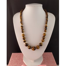 Graduated Tigers Eye Necklace