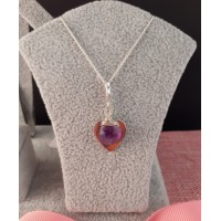 Heart and Amethyst Necklace
