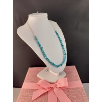 Sleeping Beauty Turquoise Necklace and 925 Silver Necklace